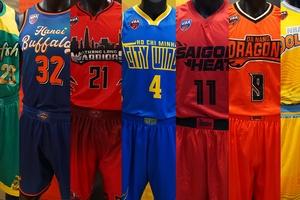 Chiêm ngưỡng 7 bộ đồng phục thi đấu mới toanh của các đội bóng VBA | Bóng rổ