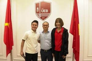 Quang Hải, Quách Thị Lan theo học tại trường ĐH hàng đầu Việt Nam