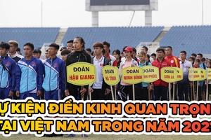Những sự kiện điền kinh quan trọng tại Việt Nam năm 2021