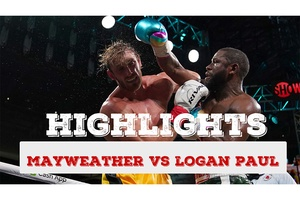 Highlights trận đấu Floyd Mayweather vs Logan Paul