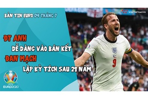 NHỊP ĐẬP EURO 2021   Bản tin ngày 04/7: ĐT Anh dễ dàng vào bán kết, Đan Mạch lập kỳ tích sau 29 năm