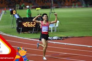 SEA Games 30: Bứt tốc ấn tượng, Dương Văn Thái giành HCV 1.500m nam