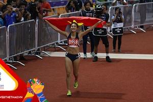 SEA Games 30: Đánh bại đối thủ nhập tịch, Tú Chinh giành HCV 100m nữ