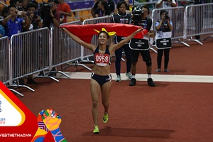 Đánh bại đối thủ nhập tịch, Tú Chinh giành HCV 100m nữ tại SEA Games 30