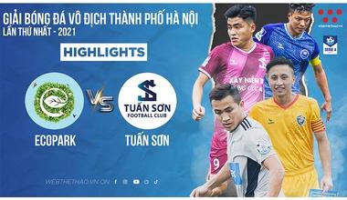 Highlights Ecopark vs Tuấn Sơn Vòng 4 Hanoi Serie A - 2021